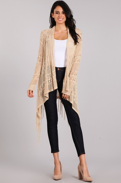 Knitted long Body Cardigan - orangeshine.com