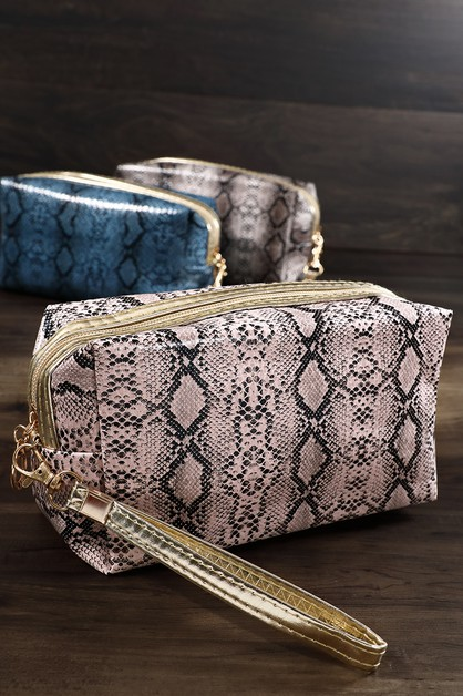 Pacific Python Travel Makeup Bag - orangeshine.com
