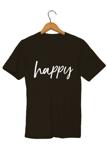 Happy Graphic Tee - orangeshine.com