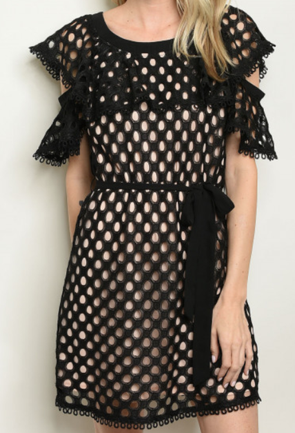 Black Eyelet Dress - orangeshine.com