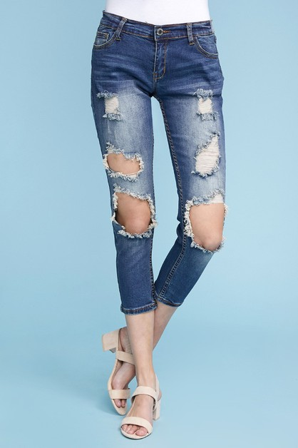 b1213b1be Mid Rise Ripped Stretch Skinny Jeans - orangeshine.com