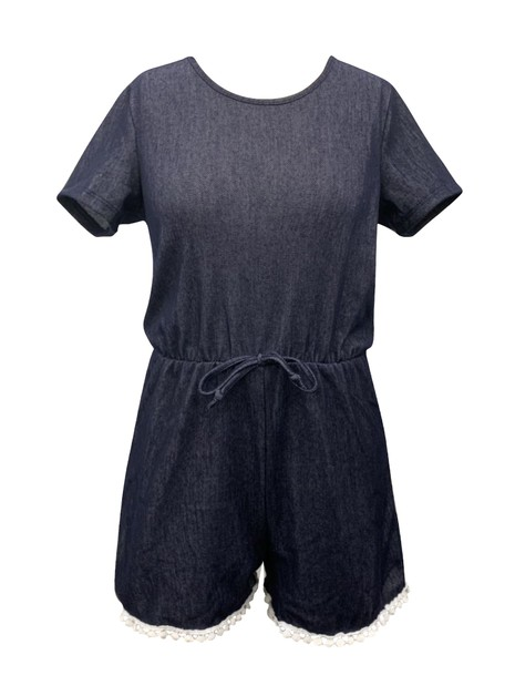 Girls Denim Jean Rompers Kids Summer - orangeshine.com