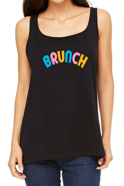 BRUNCH PRINTED TANK TOP - orangeshine.com