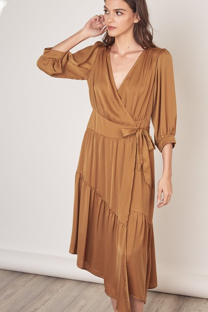 WAIST WRAP LONG DRESS - orangeshine.com