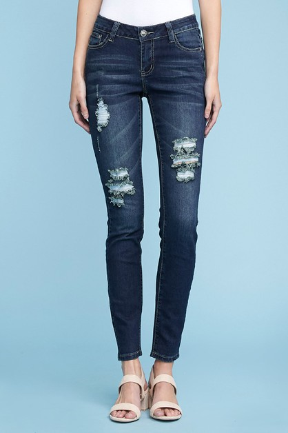 DISTRESSED DENIM JEANS AMP-141 - orangeshine.com