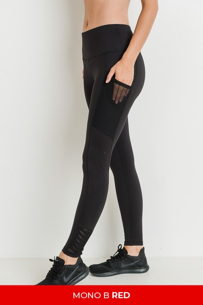 Highwaist Origami Mesh Full Leggings - orangeshine.com