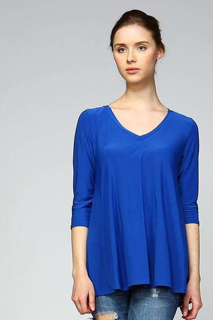 Chic V Neck Top - orangeshine.com