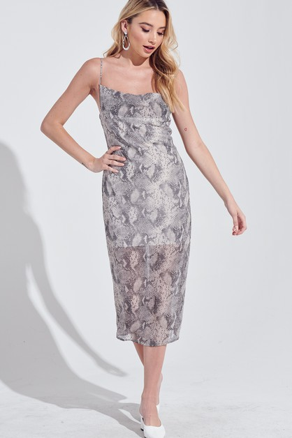 SNAKE PRINT DRESS - orangeshine.com