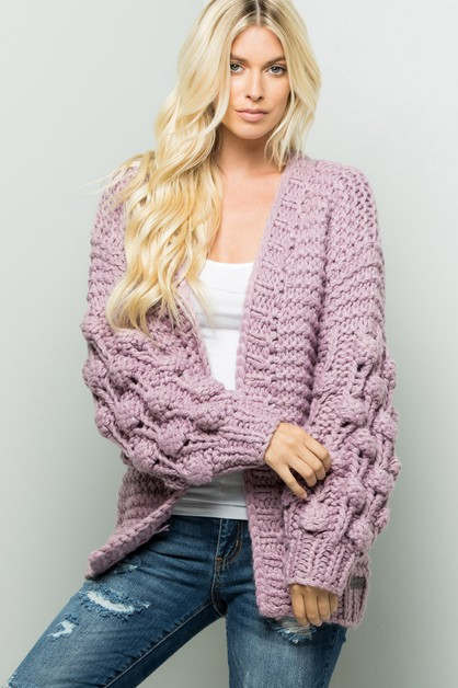 Handmade Ball Sweaters Cardigan - orangeshine.com