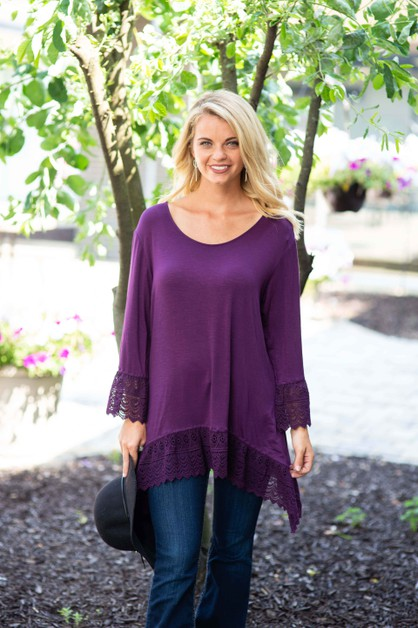 Crochet Trim Tunic - orangeshine.com