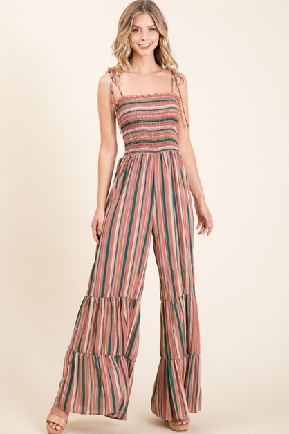 STRIPE SMOKING TOP KANGKANG PANTS - orangeshine.com