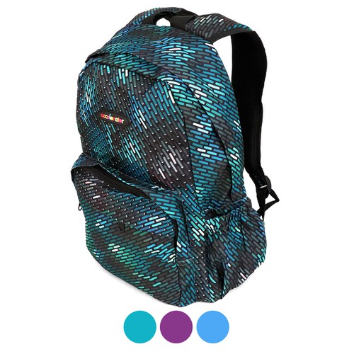 Geometric Pattern School Backpack  - orangeshine.com