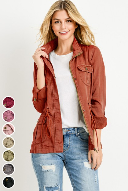 COLOR TENCEL ANORAK JACKET - orangeshine.com