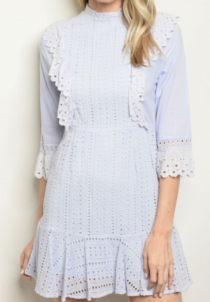 Eyelet Dress - orangeshine.com