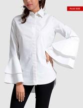 Womens Plus Size Top - Bell Sleeve - orangeshine.com