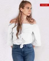 Womens Plus Size Top Off - Shoulder - orangeshine.com