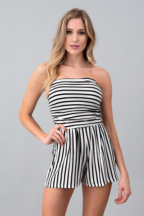 STRIPE TUBE ROMPER - orangeshine.com