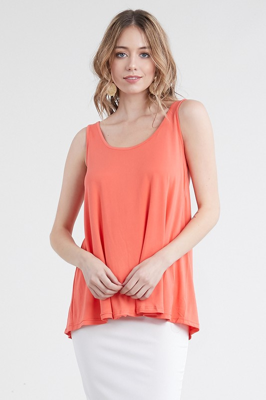 BASIC PRINT LOOSE FIT TANK TOP - orangeshine.com