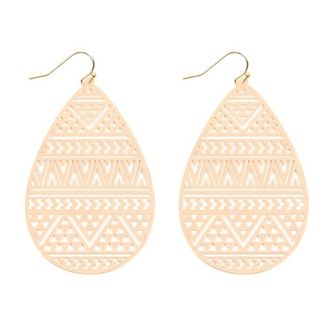 LASER CUT CHEVRON FILIGREE EARRINGS - orangeshine.com