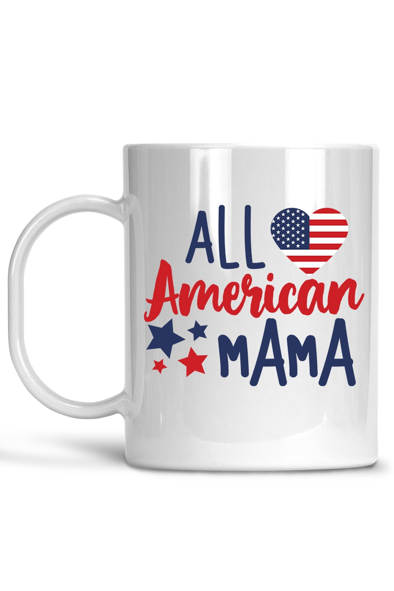 All American Mama - Mug - orangeshine.com