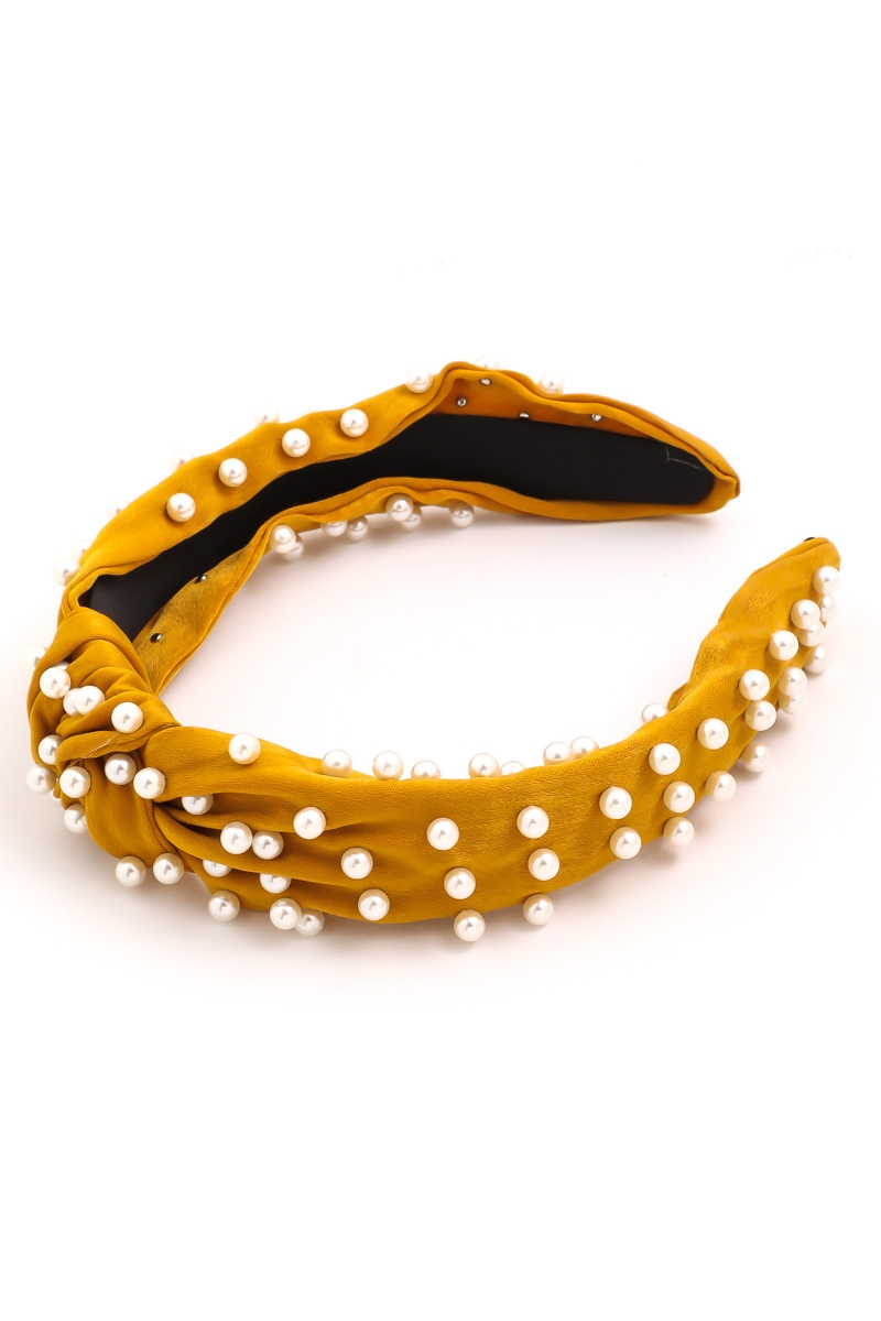 Pearl Studded Headband - orangeshine.com