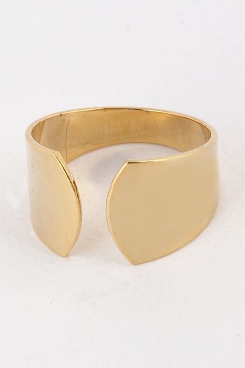 Curved End Simple Cuff Ring 4LBF8 - orangeshine.com