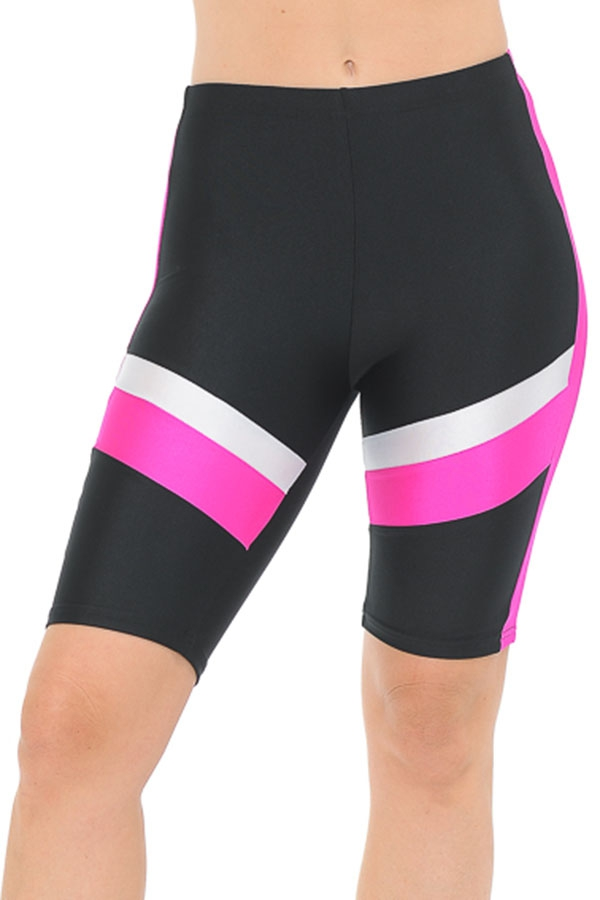 color block biker shorts - orangeshine.com