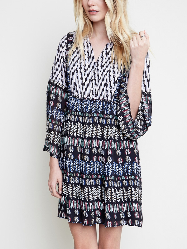 Printed Tunic Dress - orangeshine.com