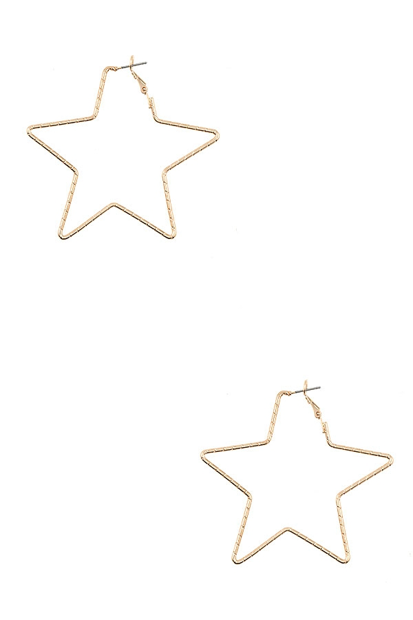 STAR OUTLINED DROP EARRING - orangeshine.com