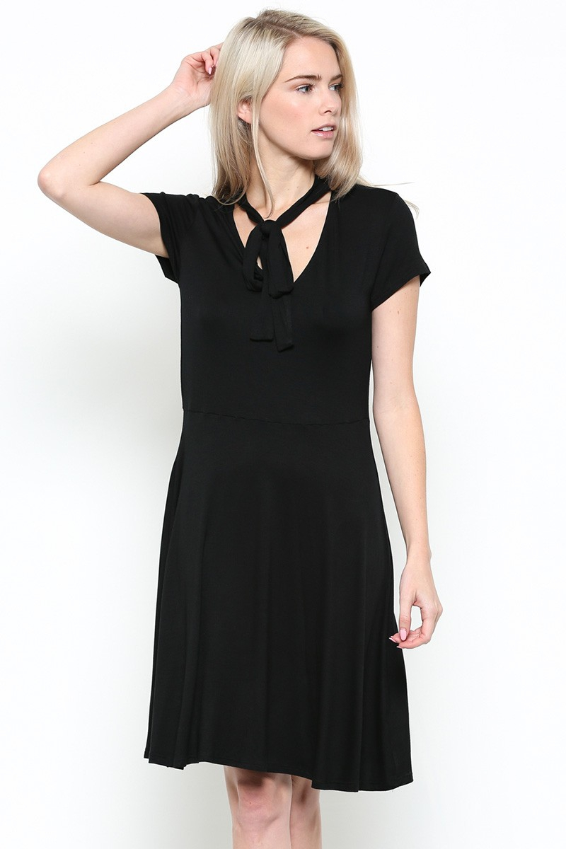 TIE NECK DRESS - orangeshine.com