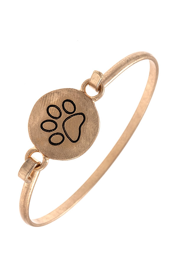 PAW ETCHED BANGLE BRACELET - orangeshine.com