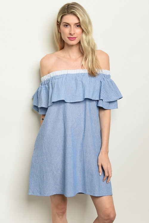 FLOUNCE OFF SHOULDER DRESS - orangeshine.com