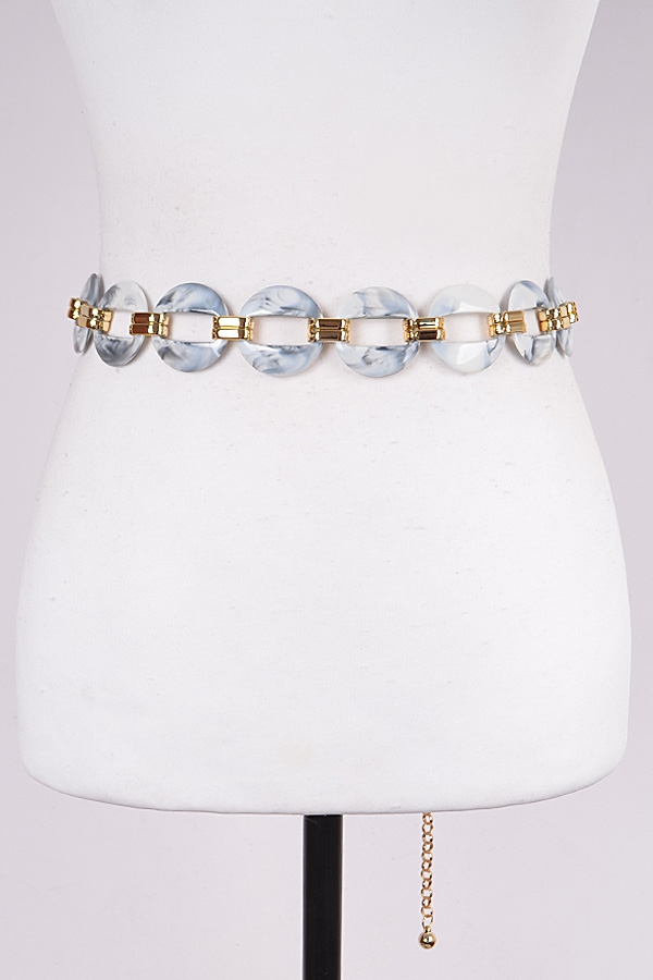 Chainlink Marble Style Luxury Belt - orangeshine.com