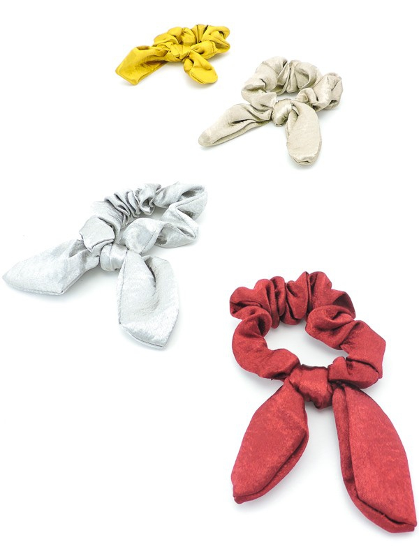 Festive Metallic Scrunchie Bows - orangeshine.com