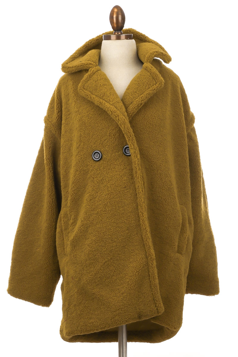 Faux Shearling Oversized Coat - orangeshine.com