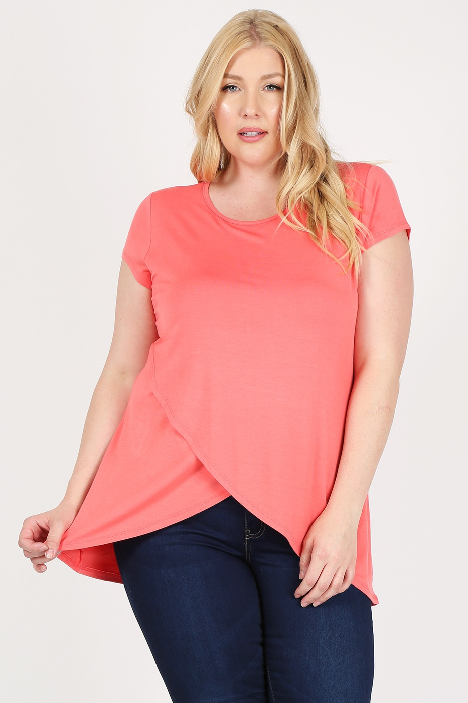 Solid layered hi-lo hem Top - orangeshine.com