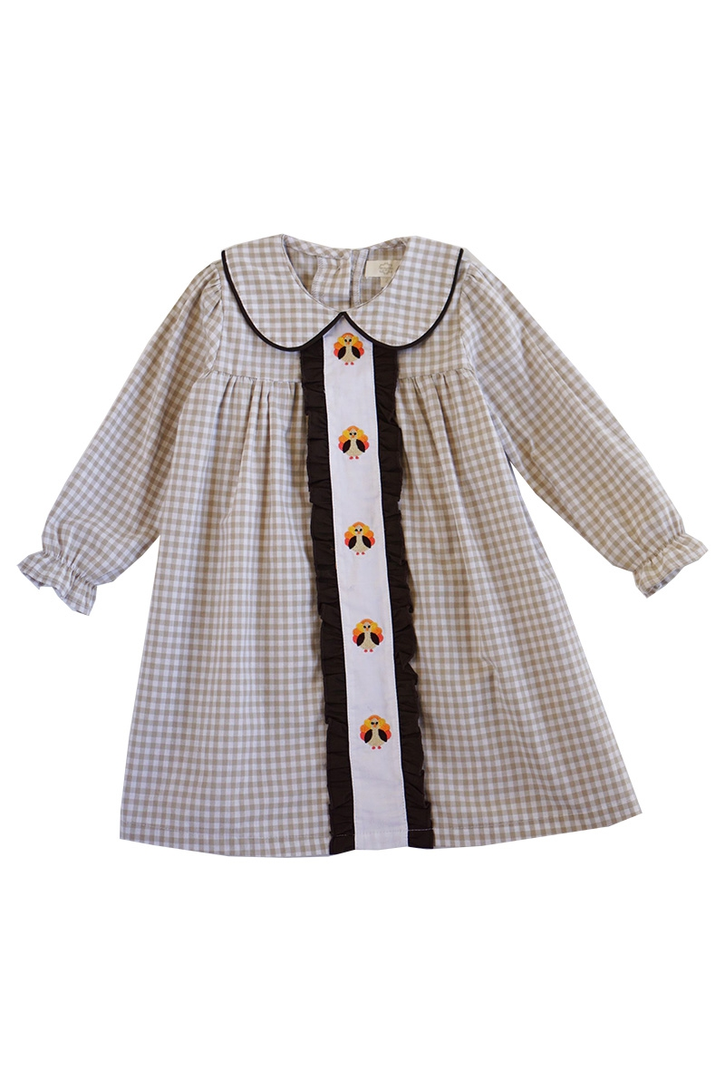 collared gingham dress - orangeshine.com