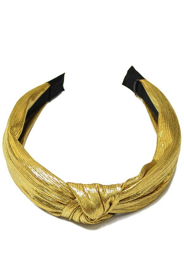 Metallic headband with knot - orangeshine.com
