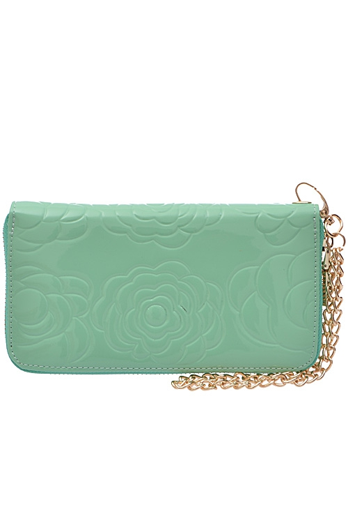 Rose Design Chain Wallet - orangeshine.com