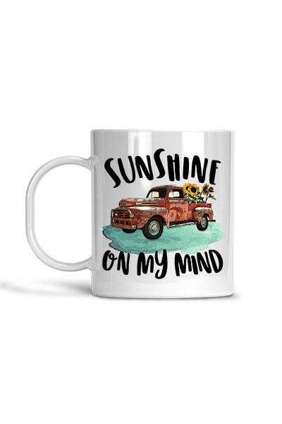 Sunshine on My Mind - Mug - orangeshine.com