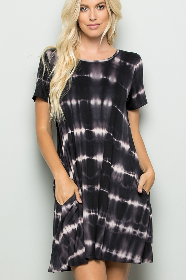 TIE DYE PRINT DRESS - orangeshine.com