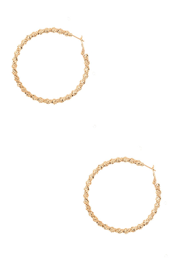 TWIST DETAILED HOOP EARRING - orangeshine.com