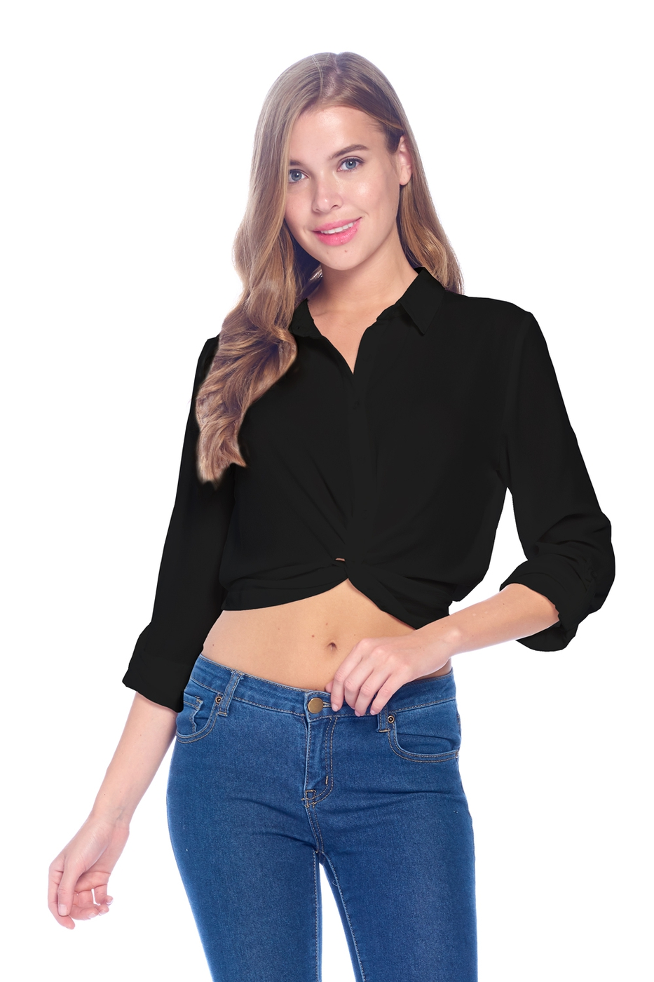 LADIES SOLID TWIST TOP - orangeshine.com