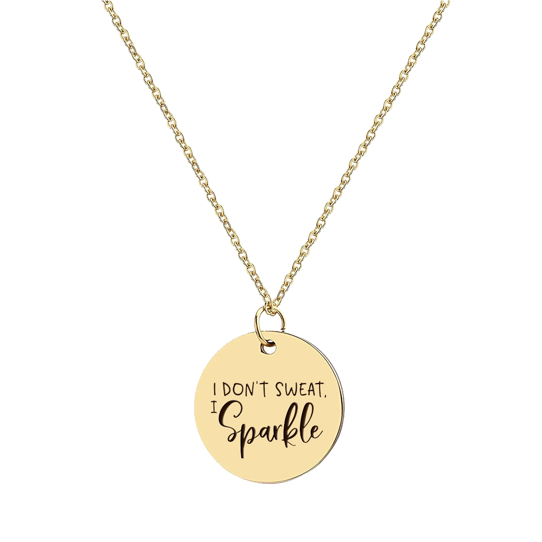 I DONT SWEAT I SPARKLE NECKLACE - orangeshine.com