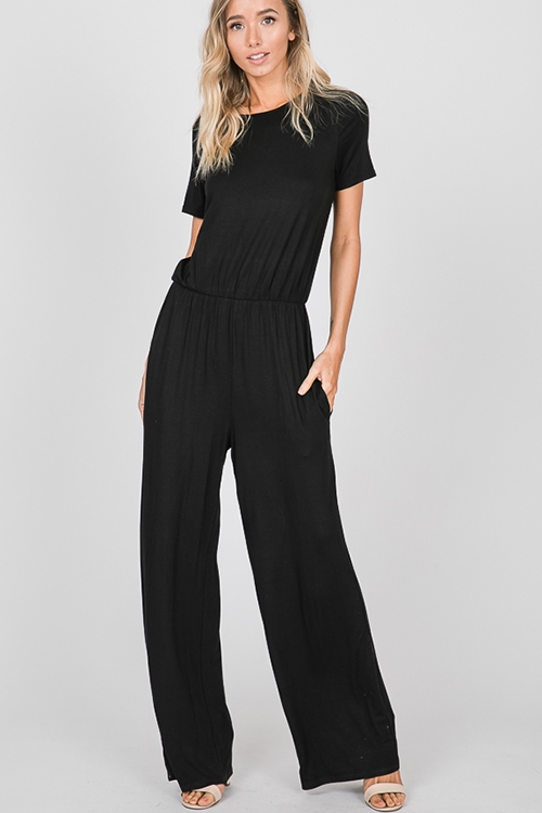 SOLID JUMPSUIT WITH KEY HOLE  AND SI - orangeshine.com