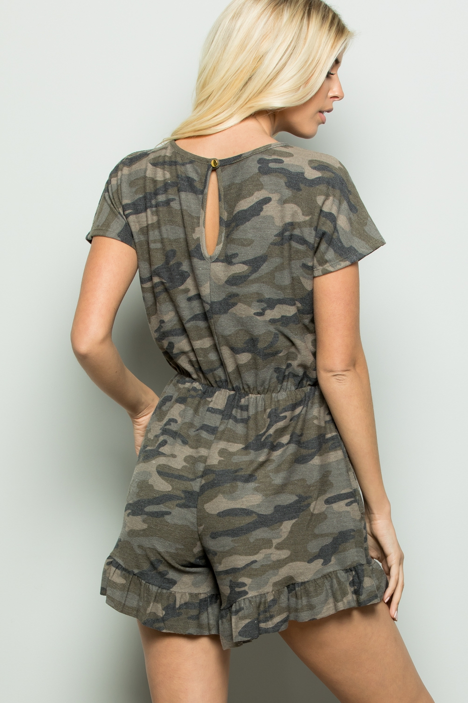 CAMO ROMPER WITH SIDE POCKET - orangeshine.com