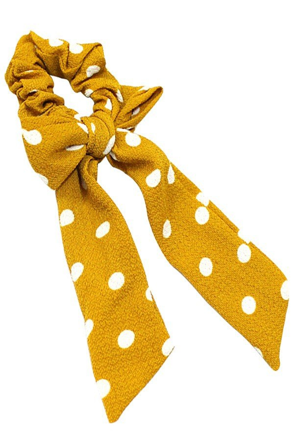 Polka dot hair scrunchie  - orangeshine.com
