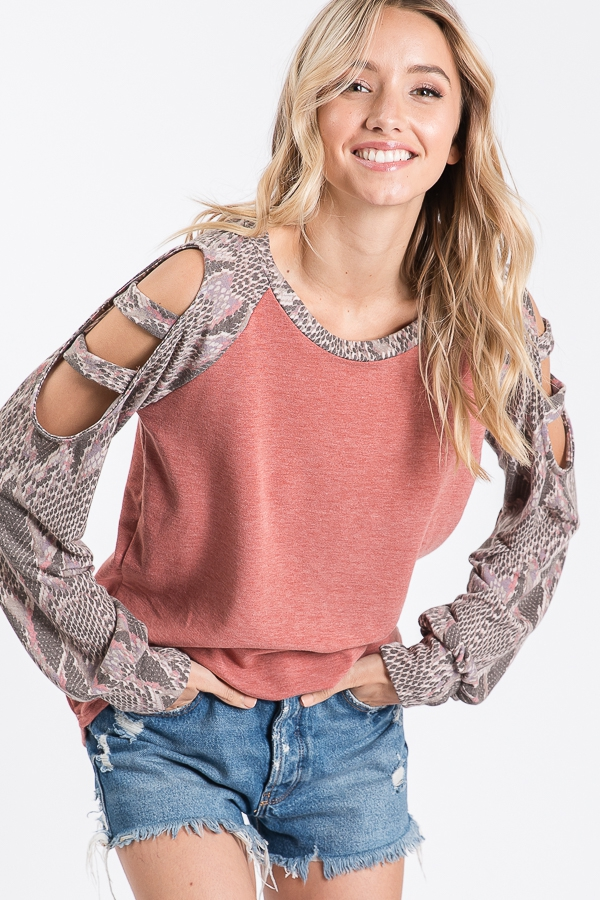 RAGLAN SLEEVE TOP  - orangeshine.com