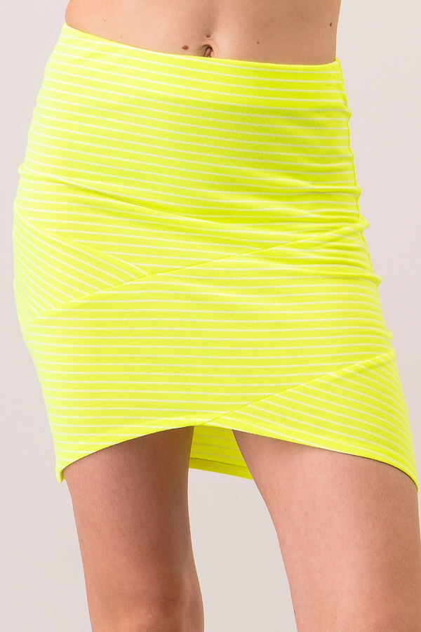 FRONT CROSS MINI SKIRT - orangeshine.com