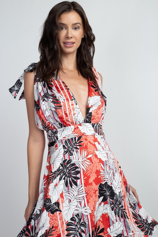 Tropical Mini Dress - orangeshine.com
